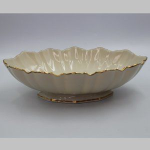 Lenox  Footed Scalloped Ivory Oval Serving Bowl
